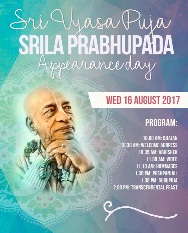 Bris Sri Vyasa Puja 17