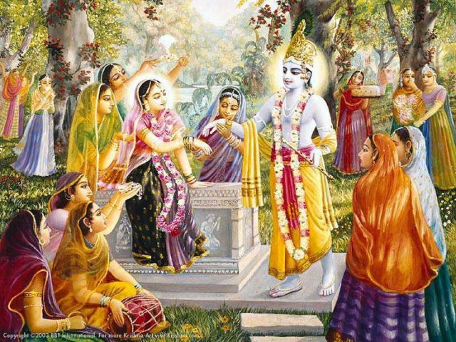 Video of Krsna's pastimes while chanting. From VEDAVEDA.COM ...